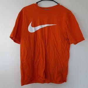 Mens Orange Nike regular fit tee shirt M